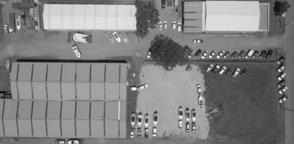 Aerial shot of the Edencraft International facility in Moolap, Geelong
